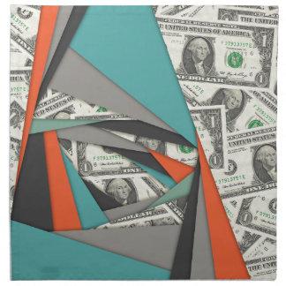 Collage colorido de la moneda servilletas