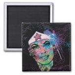 Collage colorido de la Mujer Maravilla Iman Para Frigorífico
