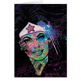 Collage colorido de la Mujer Maravilla Tarjeta De Felicitación
