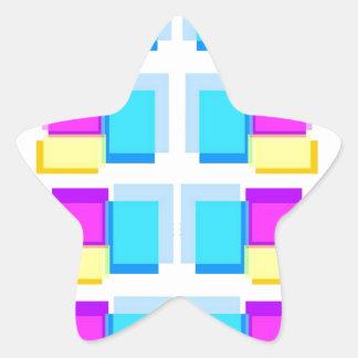 Collage colorido de las NOTAS PEGAJOSAS Colcomanias Forma De Estrella