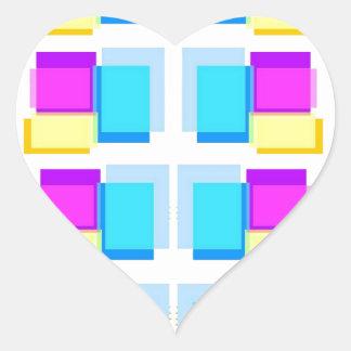 Collage colorido de las NOTAS PEGAJOSAS Calcomanía Corazón Personalizadas