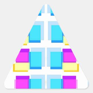 Collage colorido de las NOTAS PEGAJOSAS Calcomanías Triangulos Personalizadas