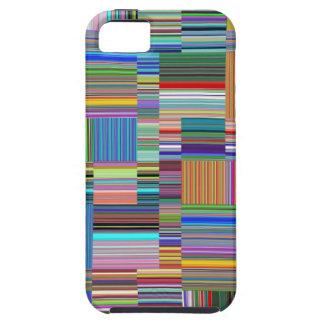 Collage colorido de las rayas iPhone 5 funda