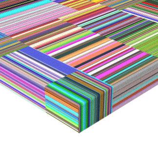 Collage colorido de las rayas impresion en lona