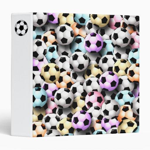 Collage colorido de los balones de fútbol