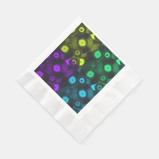 Collage colorido de neón de los expedientes retros servilleta desechable
