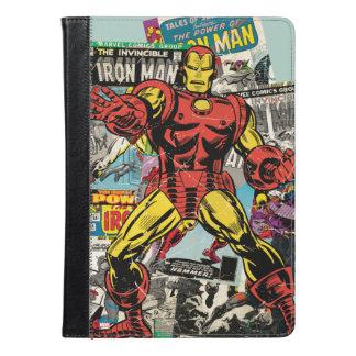 Collage cómico retro del hombre del hierro