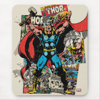 Collage cómico retro del Thor Tapete De Ratón