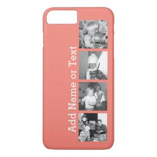 Collage con 4 imágenes - coral de la foto de funda iPhone 7 plus