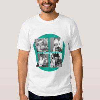 Collage con 4 imágenes - esmeralda de la foto de camisas