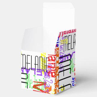 Collage conocido de encargo personalizado colorido caja para regalos