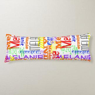 Collage conocido de encargo personalizado colorido cojin cama