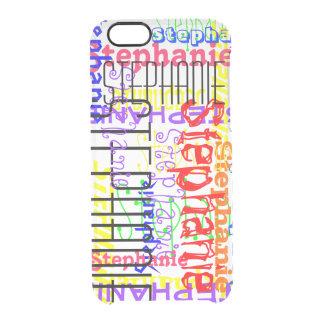 Collage conocido de encargo personalizado colorido funda clearly™ deflector para iPhone 6 de uncommon
