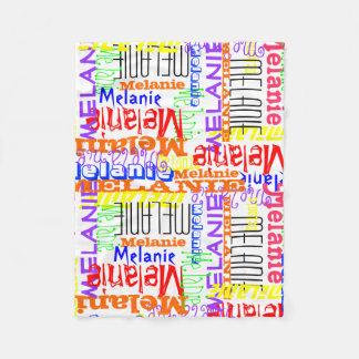 Collage conocido de encargo personalizado colorido manta de forro polar