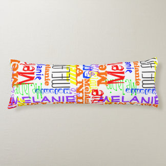 Collage conocido de encargo personalizado colorido almohada larga