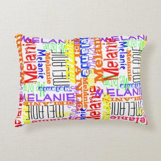 Collage conocido de encargo personalizado colorido cojín decorativo