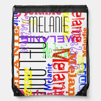 Collage conocido de encargo personalizado colorido mochila