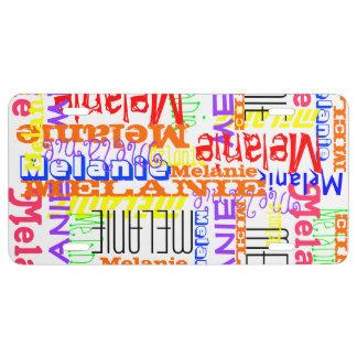 Collage conocido de encargo personalizado colorido placa de matrícula
