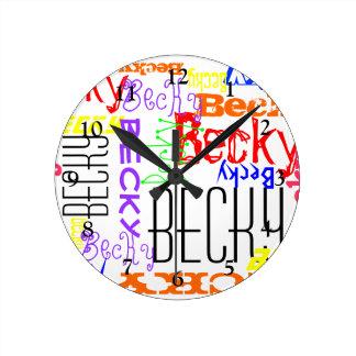 Collage conocido de encargo personalizado colorido relojes de pared