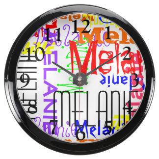 Collage conocido de encargo personalizado colorido reloj aquavista