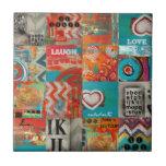 collage cósmico azulejos