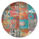 collage cósmico platos