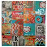 collage cósmico servilleta de papel