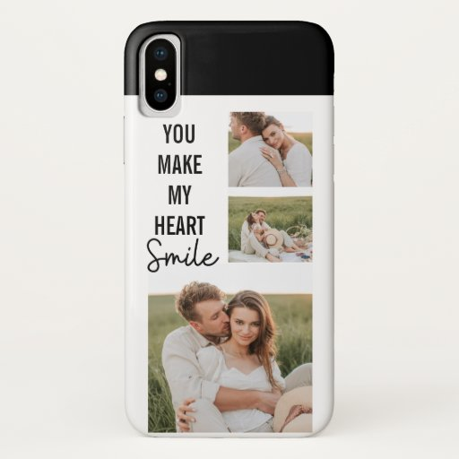 Collage Couple Photo & Lovely Romantic Quote iPhone XS Case