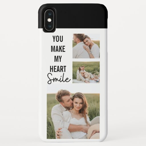 Collage Couple Photo & Lovely Romantic Quote iPhone XS Max Case