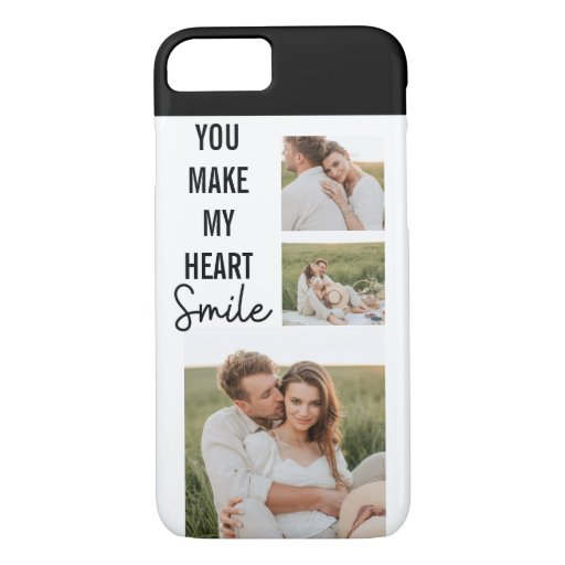 Collage Couple Photo & Lovely Romantic Quote iPhone 8/7 Case