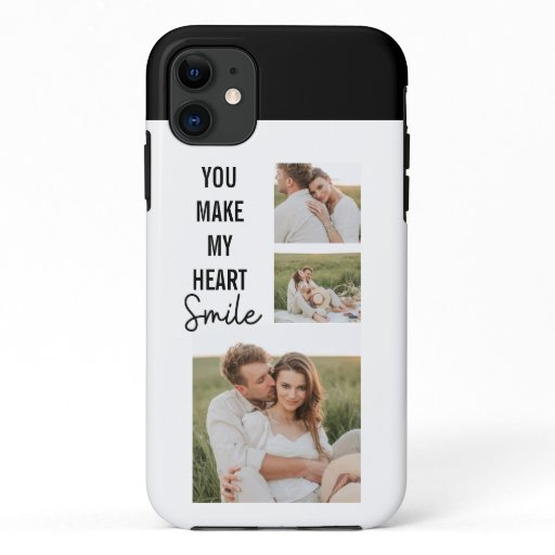 Collage Couple Photo & Lovely Romantic Quote iPhone 11 Case
