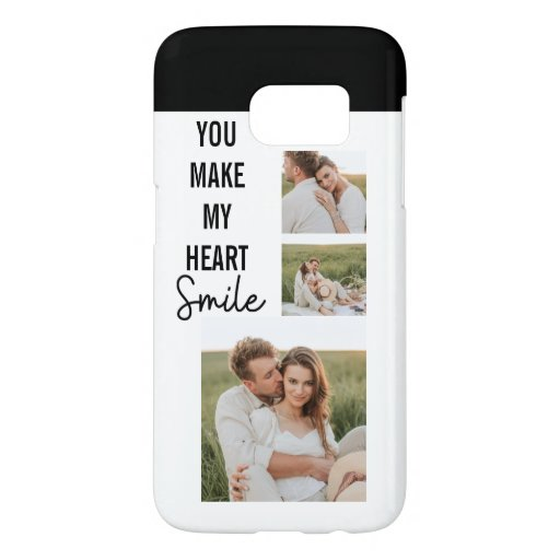 Collage Couple Photo & Lovely Romantic Quote Samsung Galaxy S7 Case