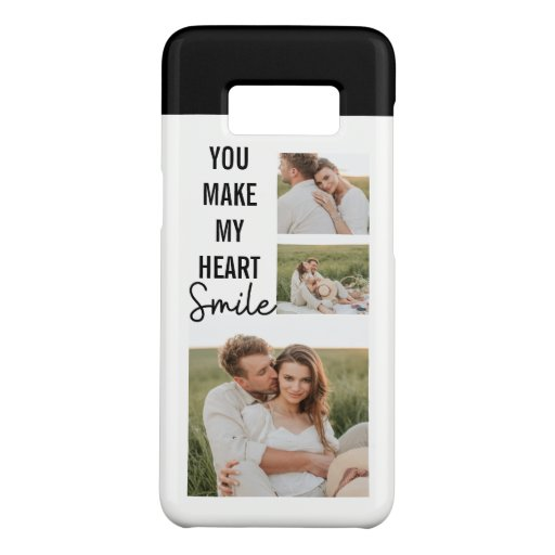 Collage Couple Photo & Lovely Romantic Quote Case-Mate Samsung Galaxy S8 Case