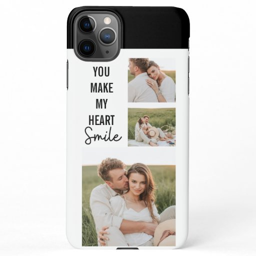 Collage Couple Photo & Lovely Romantic Quote iPhone 11Pro Max Case
