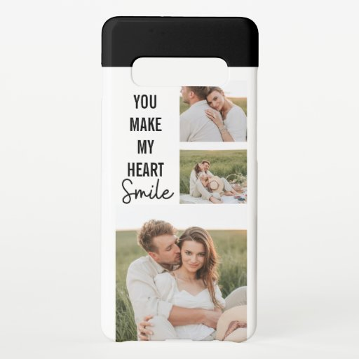 Collage Couple Photo & Lovely Romantic Quote Samsung Galaxy S10  Case
