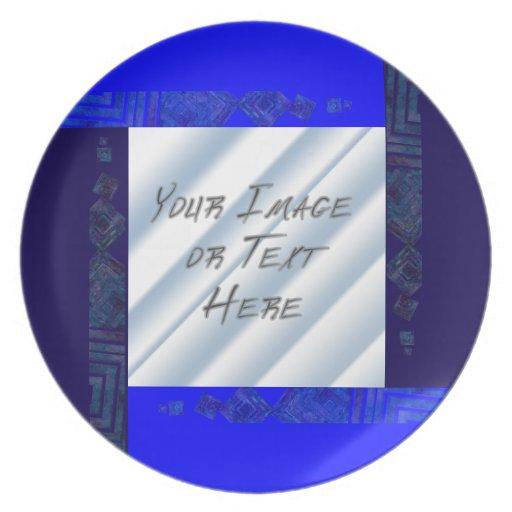 Collage cristalino: Azules Platos Para Fiestas
