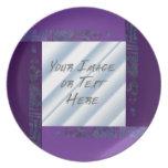 Collage cristalino: Púrpura Plato Para Fiesta