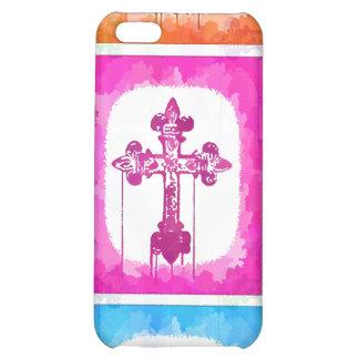 Collage cristiano del arte pop de las cruces color