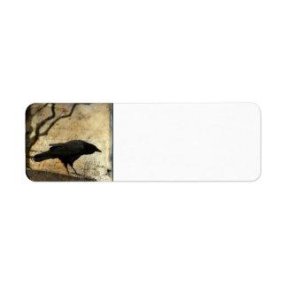 Collage crow custom return address label