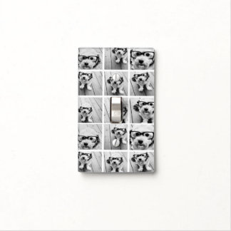Collage cuadrado de la foto 9 - blanco y negro cubiertas para interruptor