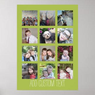 Collage de 12 fotos con el fondo 20 x 28 de la cal póster