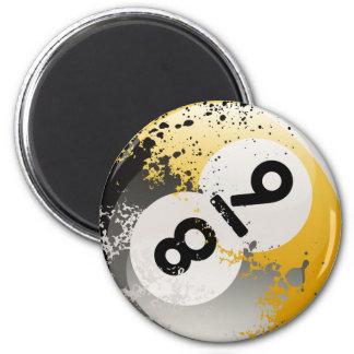 collage de 8 y 9 bolas imán redondo 5 cm
