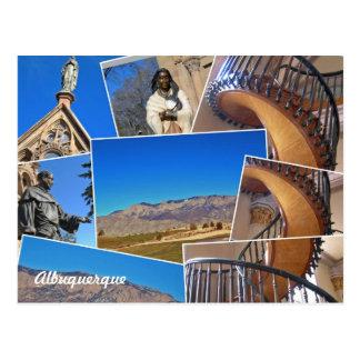 Collage de Albuquerque Santa Fe, New México Postal