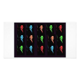 Collage de Barack Obama Tarjeta Fotográfica