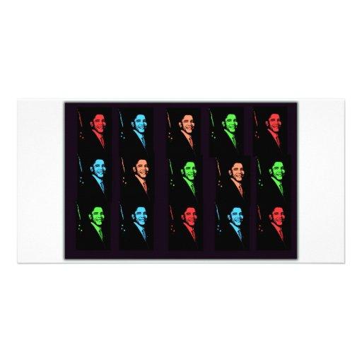Collage de Barack Obama Tarjeta Personal