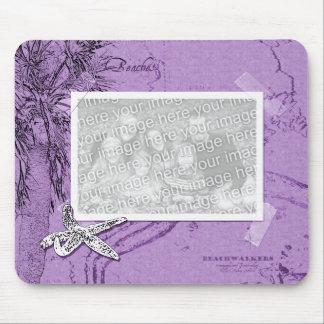 Collage de Beachwalker - púrpura de las estrellas  Tapete De Ratones