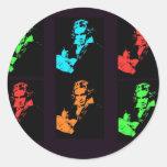 Collage de Beethoven Pegatinas Redondas