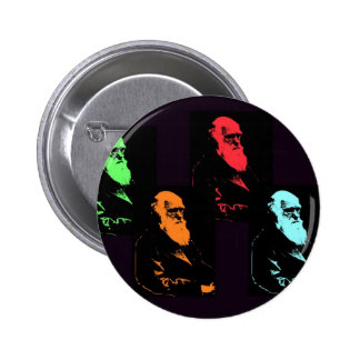 Collage de Charles Darwin Pin Redondo De 2 Pulgadas