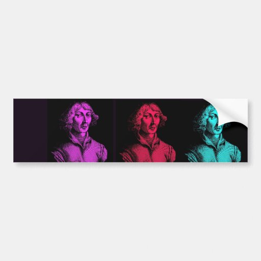 Collage de Copernicus Pegatina De Parachoque