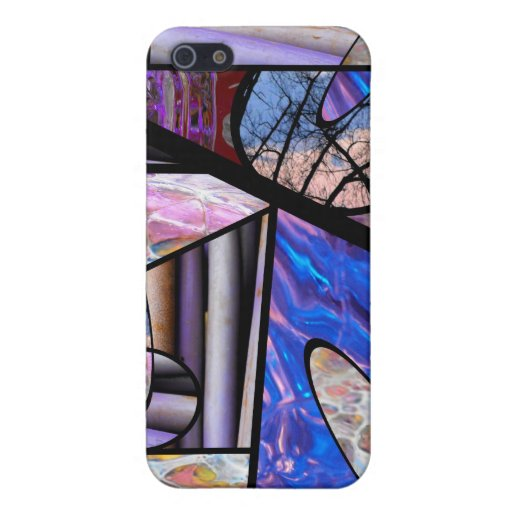 Collage de cristal de la foto de la mancha iPhone 5 protectores
